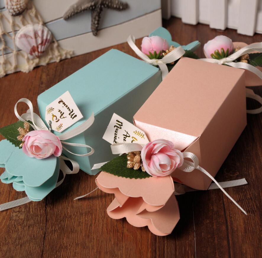 50 قطع زهرة كاندي صندوق الشوكولاتة - الأعياد والحفلات