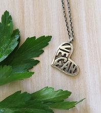 Lovely VEGAN in Heart pendant necklace