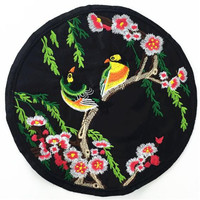 Embroidery patch 225mm tree flower bird patches for clothes deal with it 3D t shirt mens T shirt Women Diy stickers Christmas