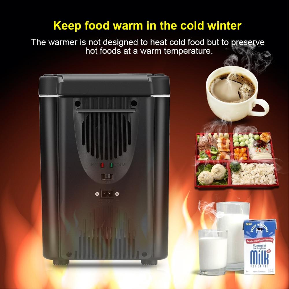 6l car mini fridge 12v 2 in 1 freezer cooler warmer electric portable icebox travel