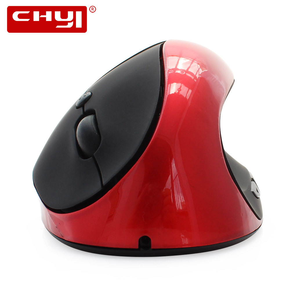 CHYI Ergonómico Vertical Inalámbrico Ratón Recargable 6 Botones Gaming Computer Mause 1600DPI USB Optical Mice Gamer para PC portátil