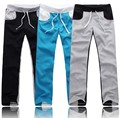 2017 New Brand CLASSIC Moletom Full SWEATPANTS Men Stylish Rope Pants Patchwork Color Male Trousers Good Quality Promotion