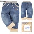 Плюс бархатные теплые зимние детские джинсы мальчиков ребенок жан-малыш дизайнер брюки Высокое качество розничная Бесплатная доставка!