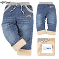 Plus velvet warm winter childrens jeans boys baby jean kid designer pants High quality retail Free shipping!