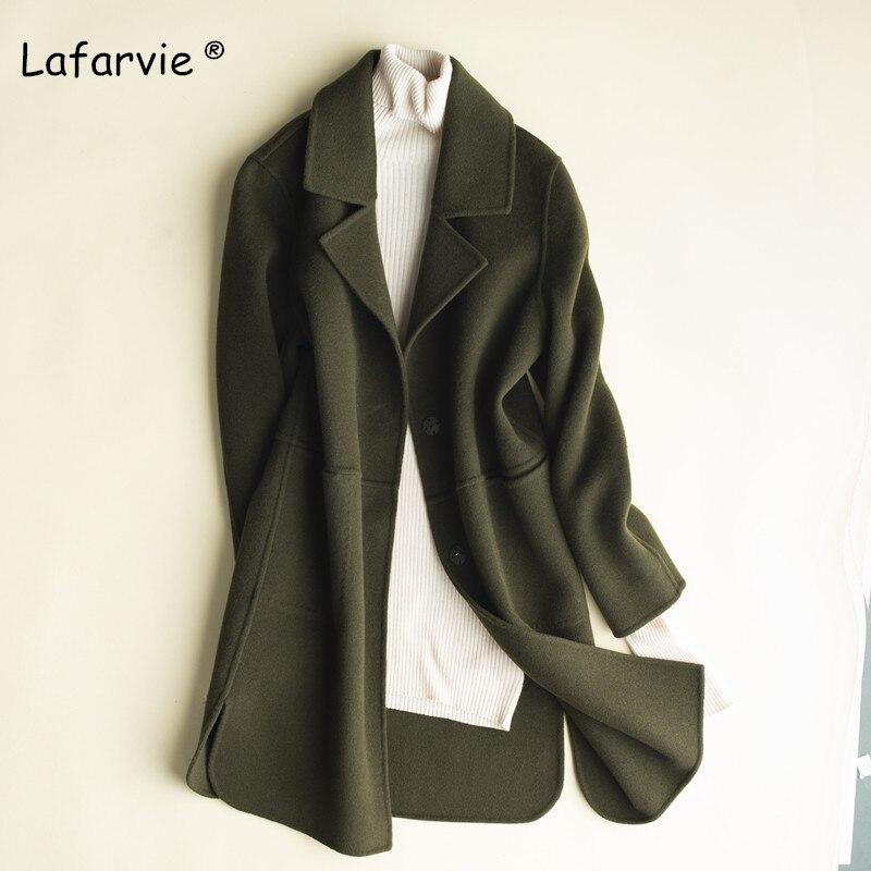 Lafarvie шерстяное пальто Женская мода для женщин шерстяные пальто для будущих мам элегантный тонкий зимняя куртка пальт