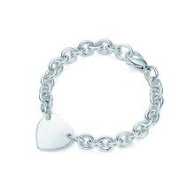 SHINEXIN 1:1 S925 Sterling Silver Original TIFF Heart-Shape Pendant Bracelet For Women Fine High-Quality Jewelry