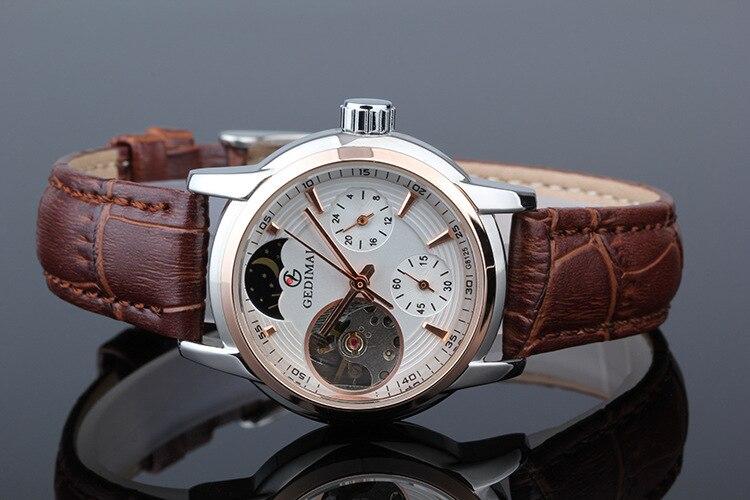 Для женщин часы автоматические механические часы женский Tourbillon часы Reloj Mujer Скелет час Лидирующий бренд наручные Relogio Feminino