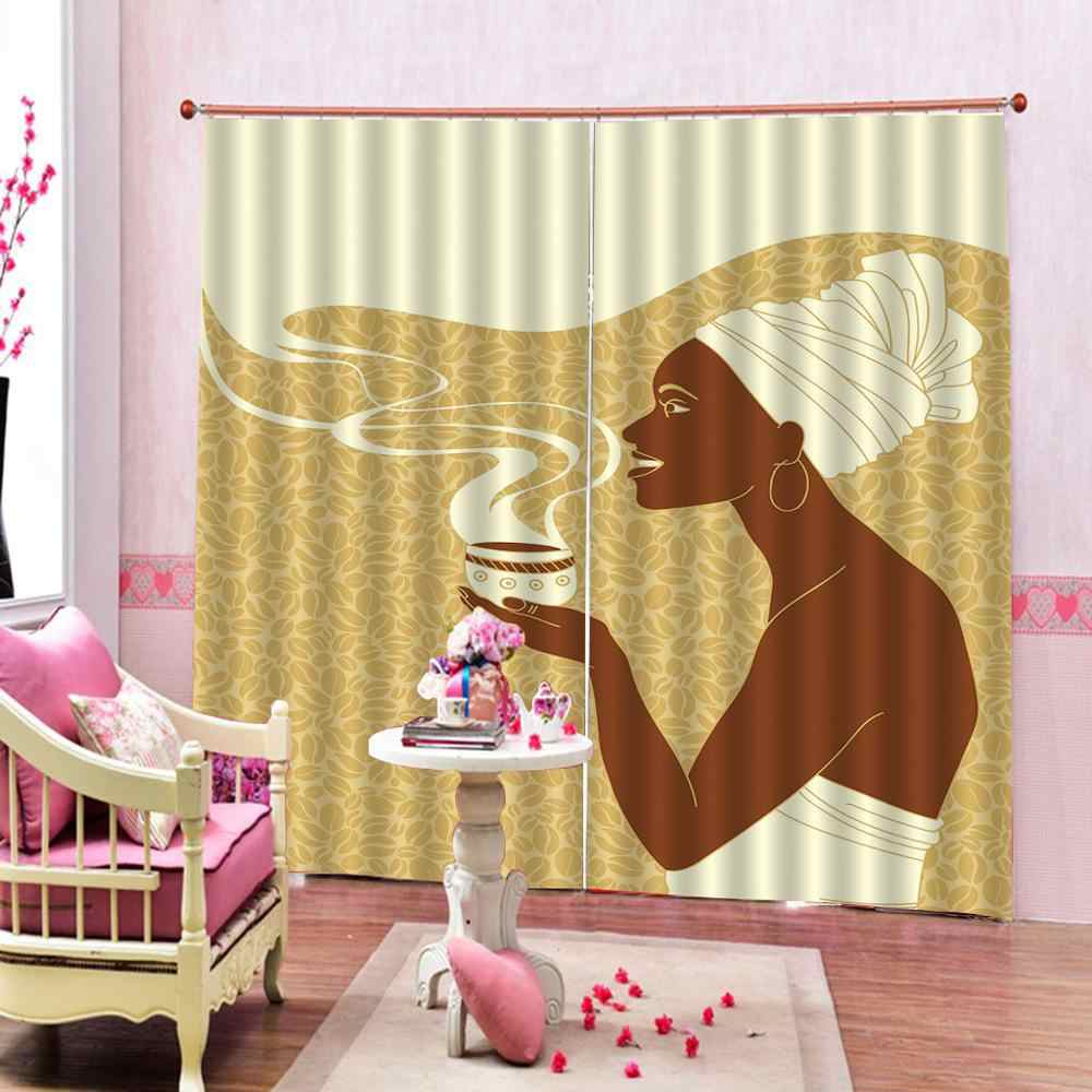 Nature Art Print, Drapes Living room Bedroom Decor 2 Panels HooksWindow Curtains  yellow girls curtains for bedroom