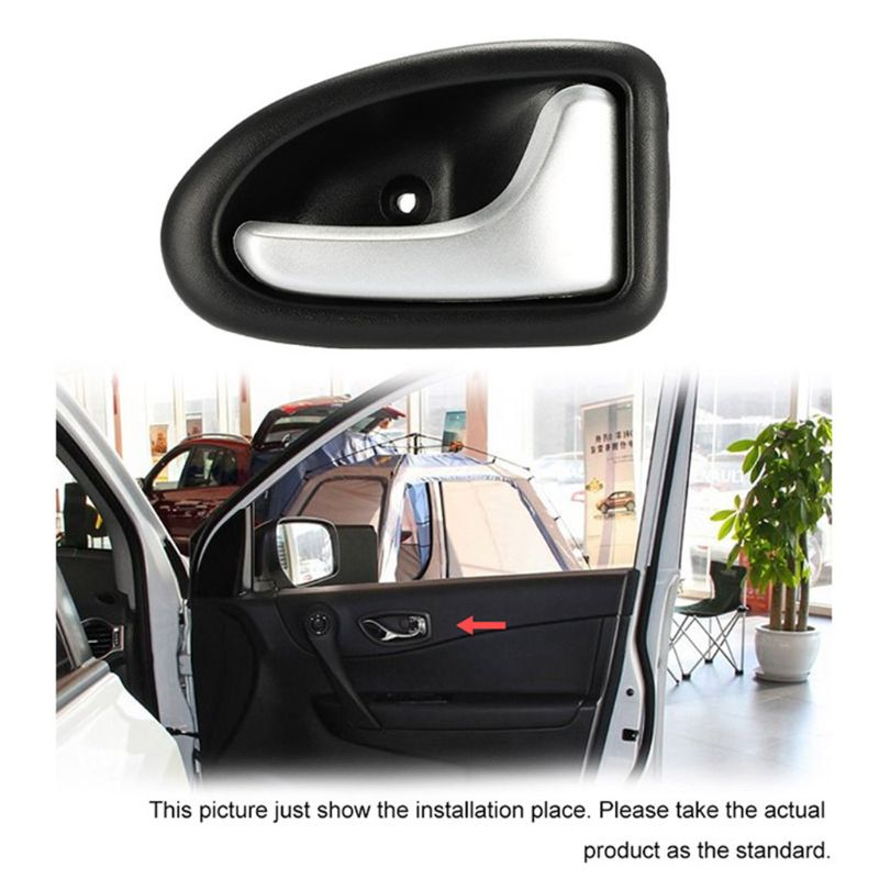 Image 2 - 1 Pair Left / Right Black Chrome Car Cable Type Interior Door Handle For Renault for Renault Clio 2000 2009-in Interior Door Handles from Automobiles & Motorcycles