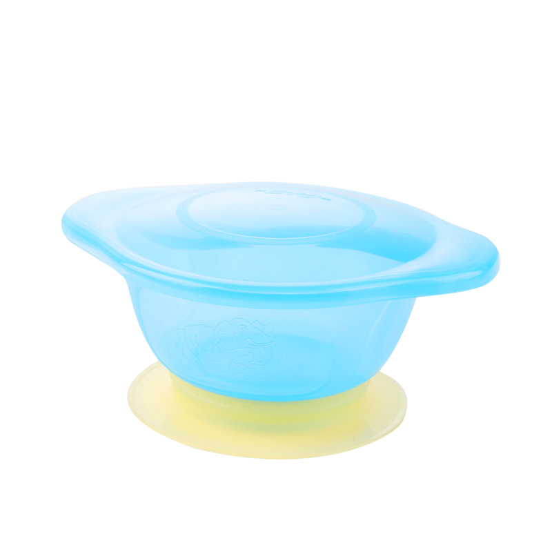 Baby Feeding Toddler Baby Lid Training Sucker Bowl Spoon Plate Dishes Tray LC