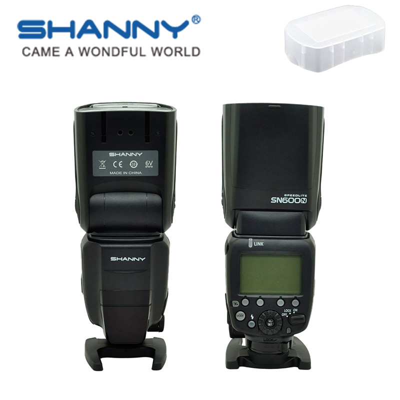 SHANNY SN600N on-camera speedlite flashgun flash for Nikon i-TTL/M/RPT High-speed sync1/8000s GN60 casual weaving design card holder handbag hasp wallet for women