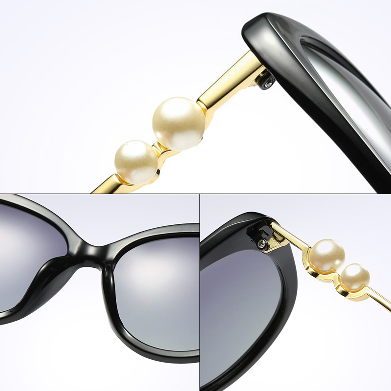 Fashion Luxury Brand Butterfly Sunglasses Female Polarized Outdoor Travelling Sun Glasses Women With Pearl Leg UV400 Protection in Women 39 s Sunglasses from Apparel Accessories