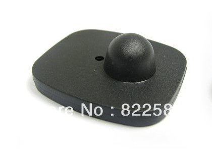 eas rf hard tag,security tag mini square clothes tag rf label 8.2mhz 46*42mm