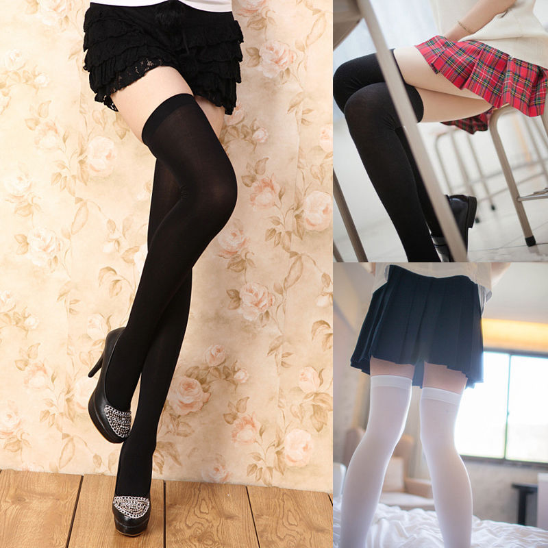 7 Color For Choose Fashion Women Clothing Girls Extra Long Boot Sockings Over Knee Socking Thigh High School Girl Stocking