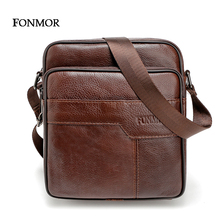 2016 New Brand Genuine Leather Men messenger Bag Vintage Cowhide Crossbody Bags for man bolso hombre mens bags