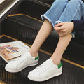 Love Lichao White Genuine Leather Casual Shoes 2017 Spring Women Fashion Mixed Colors Lace-up Shallow Flat Shoes Zapatos Mujer