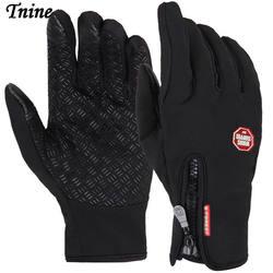 Tnine высокое качество унисекс флисовые ветрозащитные зимние перчатки Сенсорный экран перчатки для смартфона холодная погода
