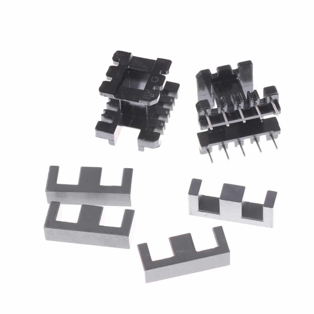 5Sets EE25 5+5pin Transformer Bobbin PC40 Ferrite Core Vertical 5SET =10 Ferrite Halves + 5 Bobbin
