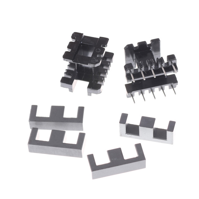 5Sets EE25 5+5pin Transformer Bobbin PC40 Ferrite Core Vertical