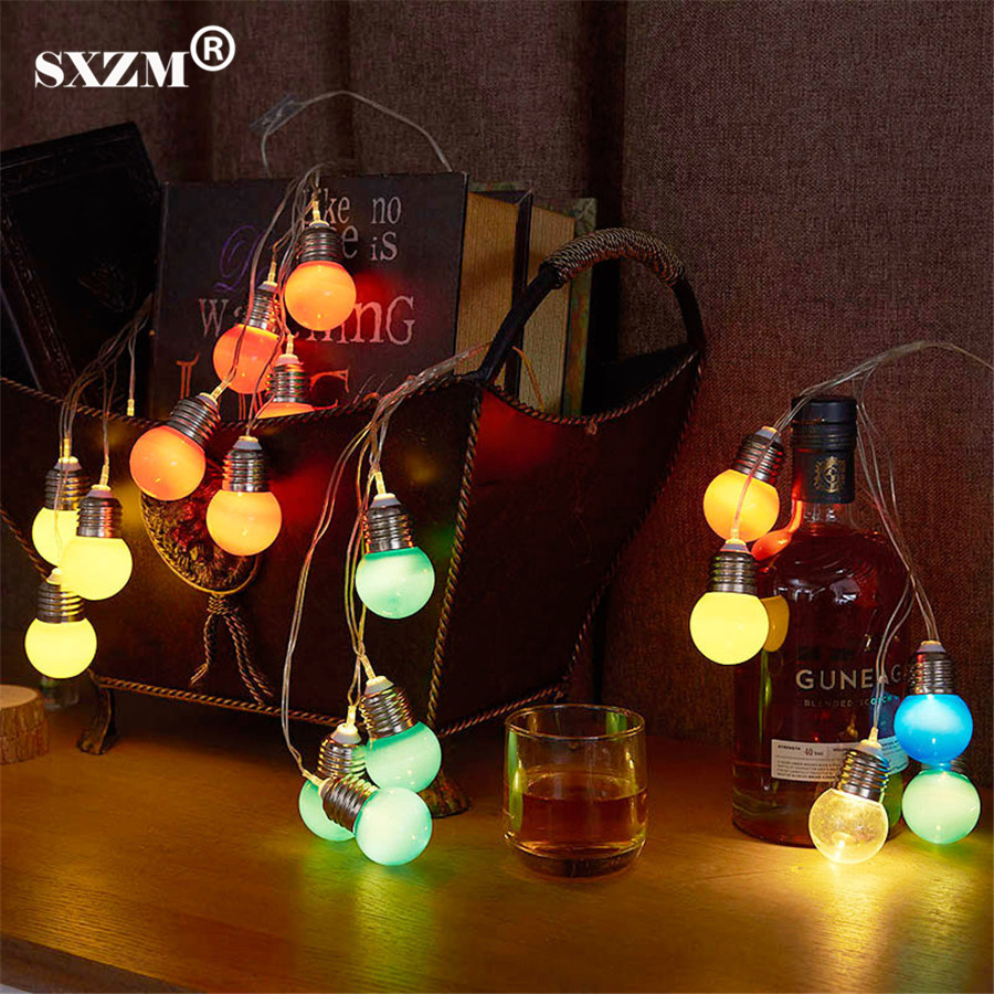 Sxzm Battery Operated 5 Balls Led String Light Dc3v Fairy Decoration Hanging Lamp For Reading Room