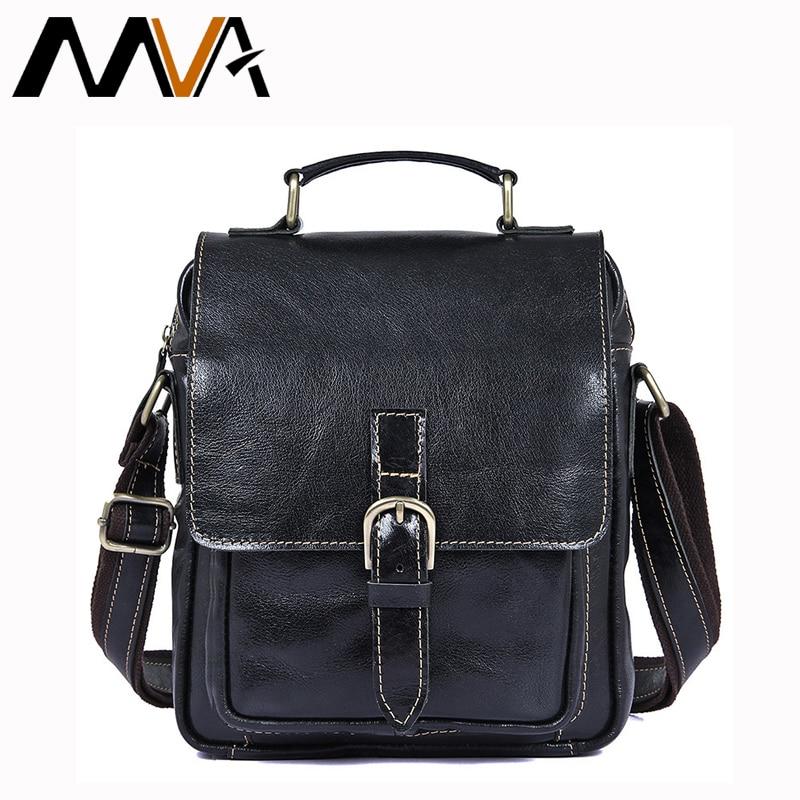 все цены на MVA Men Bag Leather Casual Men's Shoulder Bags Man Crossbody Bags Flap Small Black Designer Handbags Messenger Bag Men Leather онлайн