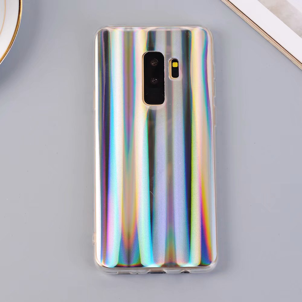 Luxury Glitter Laser Case For iPhone 8 X Case Rainbow Shining Case For iPhone 7 6 6s Plus Silicone Cover for Samsung S9 S8 Plus