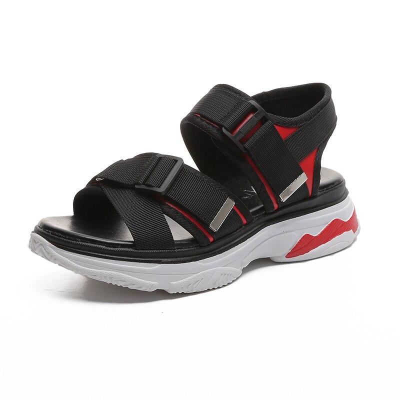 2018 Mvp Boy Breathable simple Common Projects female summer casual shoes pantufa bayan sandale bride cheville point toe plush