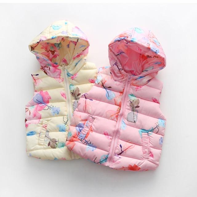 Vest Kinderkleding.Kids Vest Kinderkleding Bladeren Print Vest Baby Katoen Gevoerde