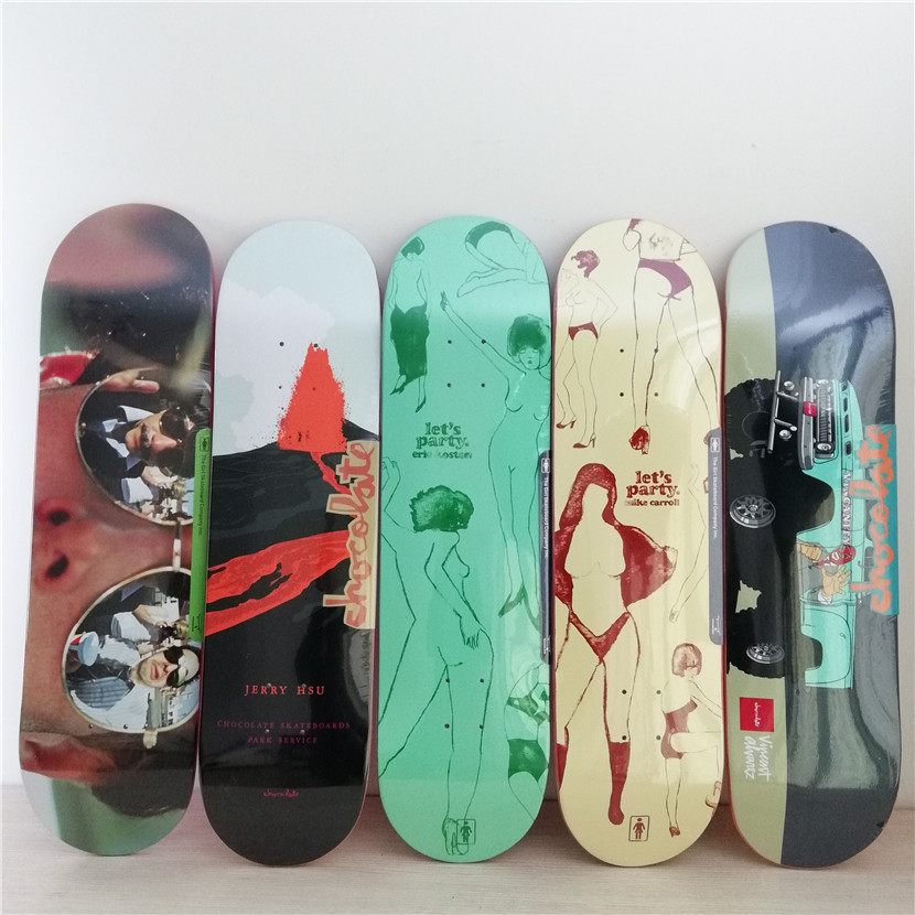 CHOCOLATE Graphics Skateboard Deck Canadian Maple Skateboard Deck 8/8.125/8.25 Pro Skate Board Decks new arrival graphics skateboard decks with 7 875 8 8 125 8 25 made by canadian maple us skateboarding deck for skaters