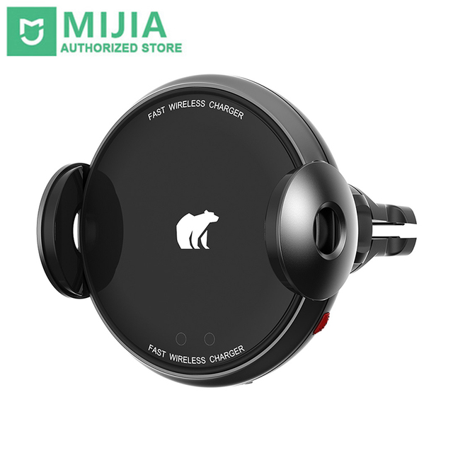 Xiaomi Mijia ShunZao Fast Wireless Car Charger 15W Infrared Induction Electric Auto Pinch For Smartphone