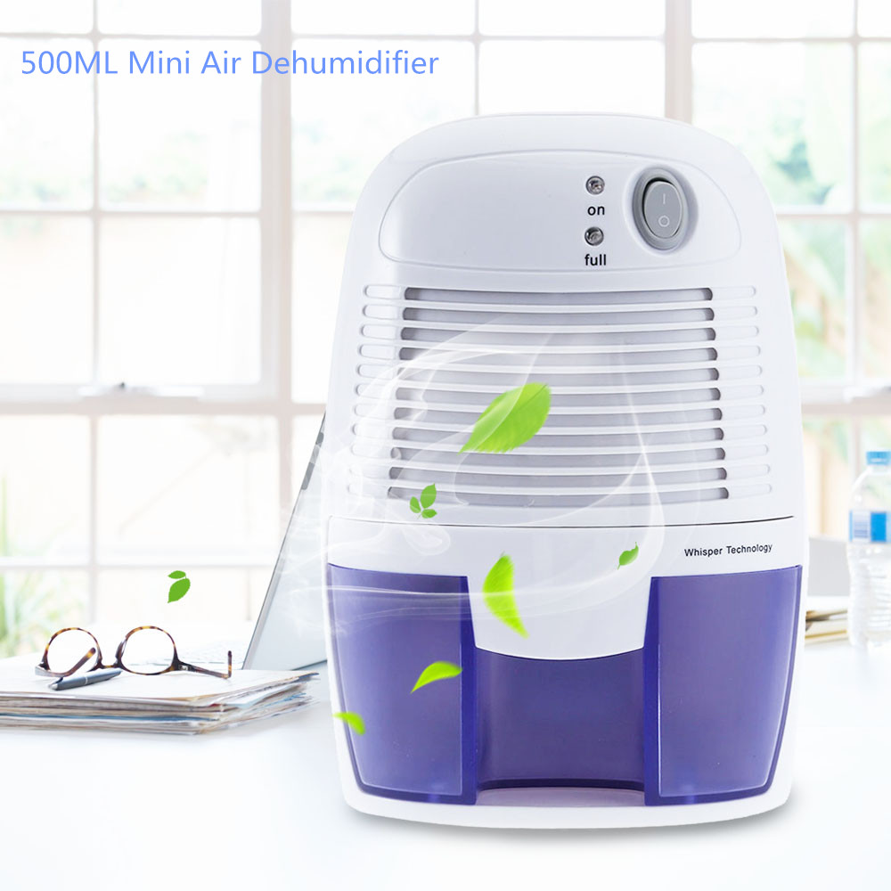 Home Mini Dehumidifier Air Dryer Moisture Absorber No noise Electric Cooling Dryer with 500ML Water Tank for Home Bedroom Office