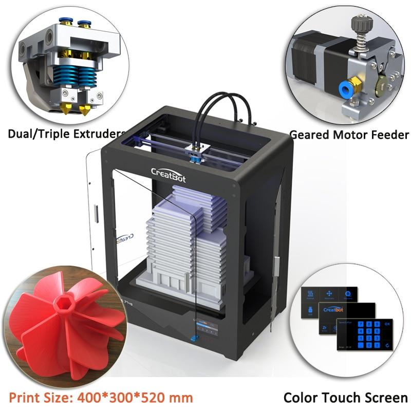 Creatbot 0,4 mm sprauslas trīs 400 grādu ekstrūderi Metāla rāmja - Biroja elektronika - Foto 4