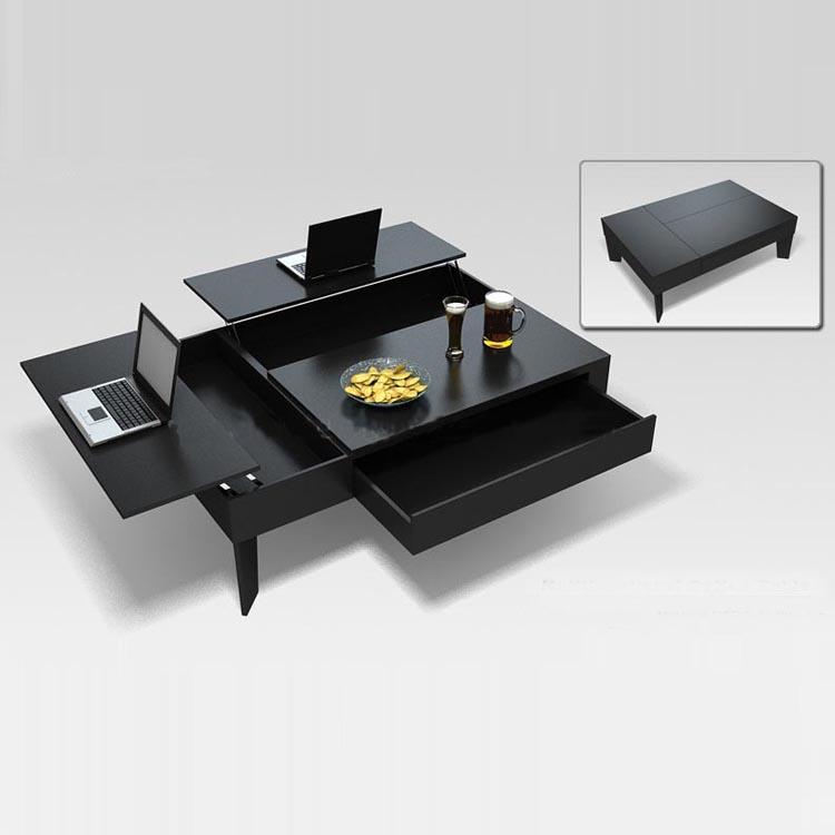 Custom Made Wooden Coffee Table Minimalist Multifunctional