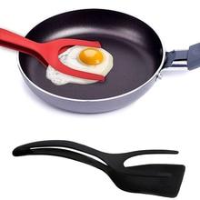 Антипригарный 2 в 1 жареный шпатель для яиц блинов французский тост омлет Флиппер лопатка Тернер хлебные щипцы кухонная утварь инструмент для приготовления пищи