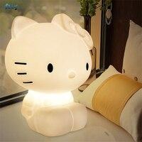 Подарок на день рождения hello kitty лампы ночные светильники Рождество принцесса комната Спальня ДЕТСКИЙ декор из игрушек Настольные светильн
