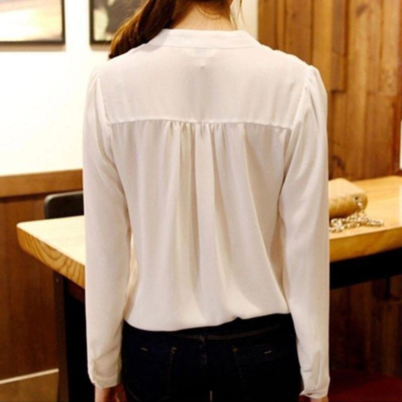 HTB1qY7hNVXXXXbdXFXXq6xXFXXXa - Women Chiffon Blouse Ladies V-neck Long Sleeve Shirt