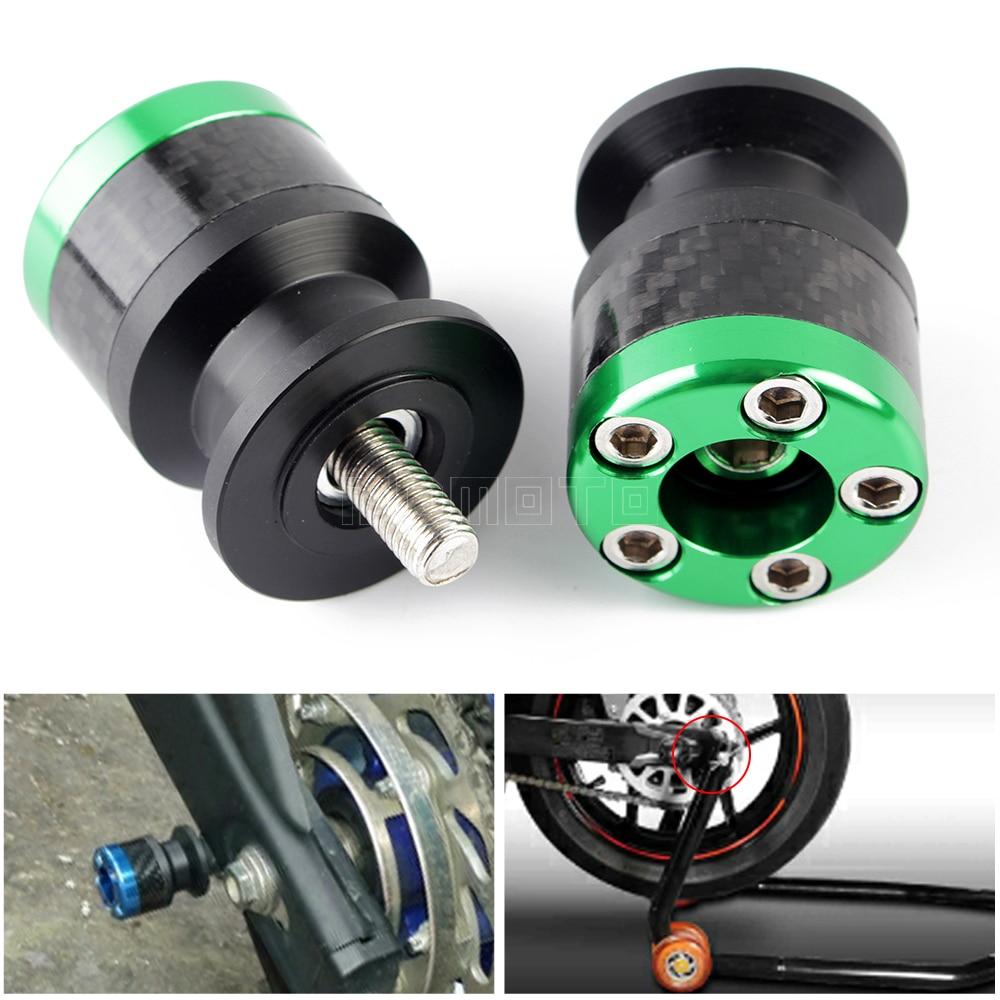 M10 Motorcycle accessories Swingarm Spools stand screws Slider For KAWASAKI ER6N Z750/R Z250 Z1000 NINJA 250 300 650 1000 Versys