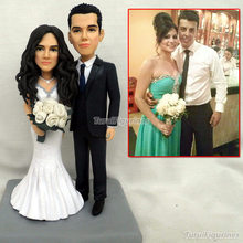 Custom Handmade Bride & Groom Wedding Cake Topper gift great idear cake topper birthday souvenir by Turui Figurines handcrafted