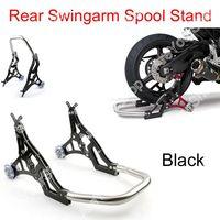 Areyourshop Rear Swingarm Spool Lift Stand Swing Arm Roller Bearings Aluminum for Moto Dirt Pit Bike Universal Paddock
