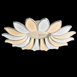 Led żyrandol oświetlenie oprawa 16 płatki kwiat akrylowe lampa Led nowoczesne lampy nabłyszczania Lamparas De Techo światło dla jadalnia pokój dzienny
