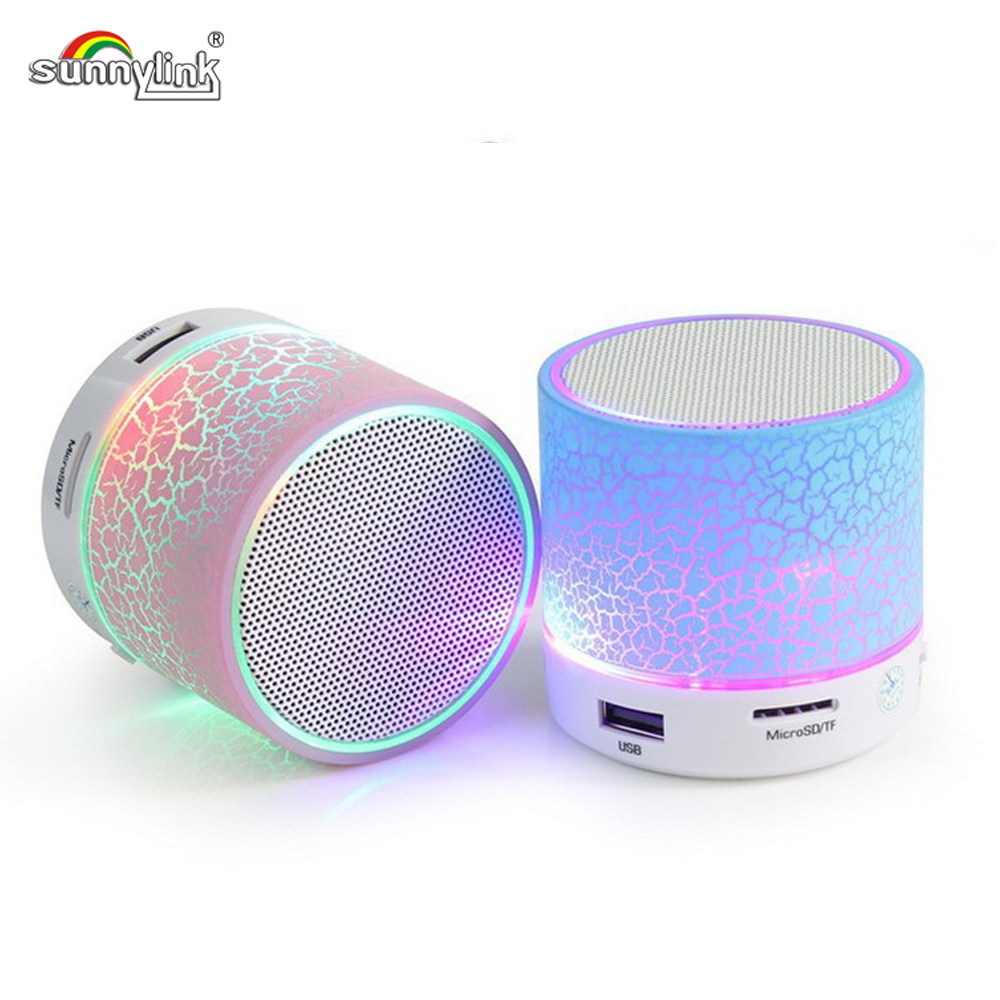 wireless mini led light bluetooth speaker with usb tf bluetoth fm radio colorful led ligh. Black Bedroom Furniture Sets. Home Design Ideas