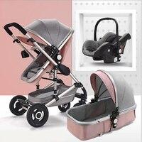 3 in1 детская коляска Ультра свет может сидеть может похвастаться Коляски складной дети тележка 4 колеса коляски амортизатор коляска