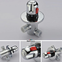 Free Shipping DN15 G1 2 Brass Thermostatic Mixing Valve Adjust The Mixing Water Temperature Thermostatic Mixer