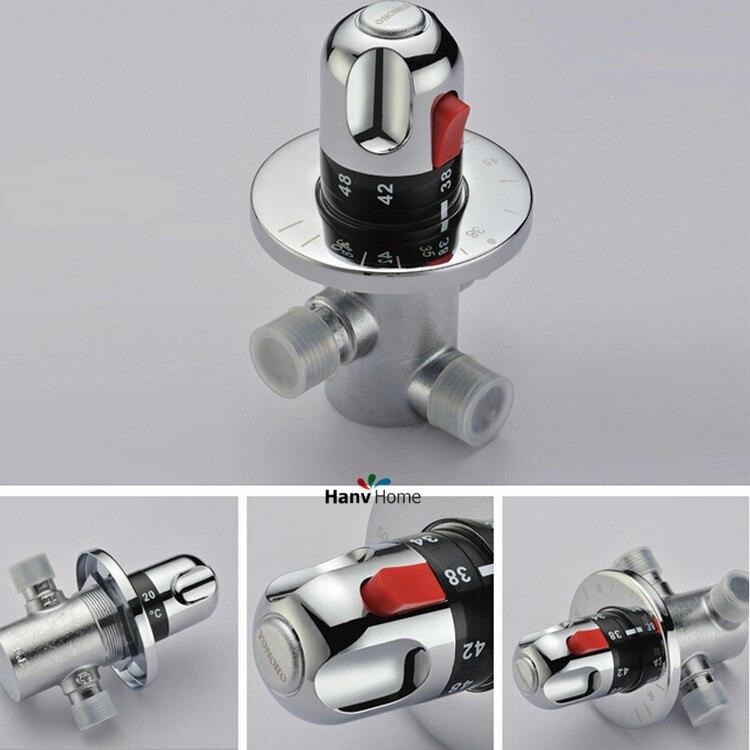 Dn15 (G1/2) латунь термостатический смесительный Клапан, солнечный подогреватель воды Клапан, регулировка Mixing Температура воды смеситель