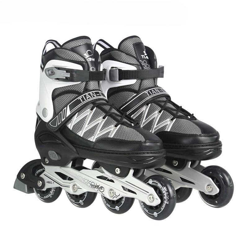 professional roller Skates Shoes adult or kid, Slalom Sliding inline Skates Shoes,Aluminum alloy frame Quad Skates shoes,IA58 16 pcs 85a 92a quality pu inline roller skates wheels 72 76 80mm high elasticity freestyle roller blade rodas fsk sliding ruedas