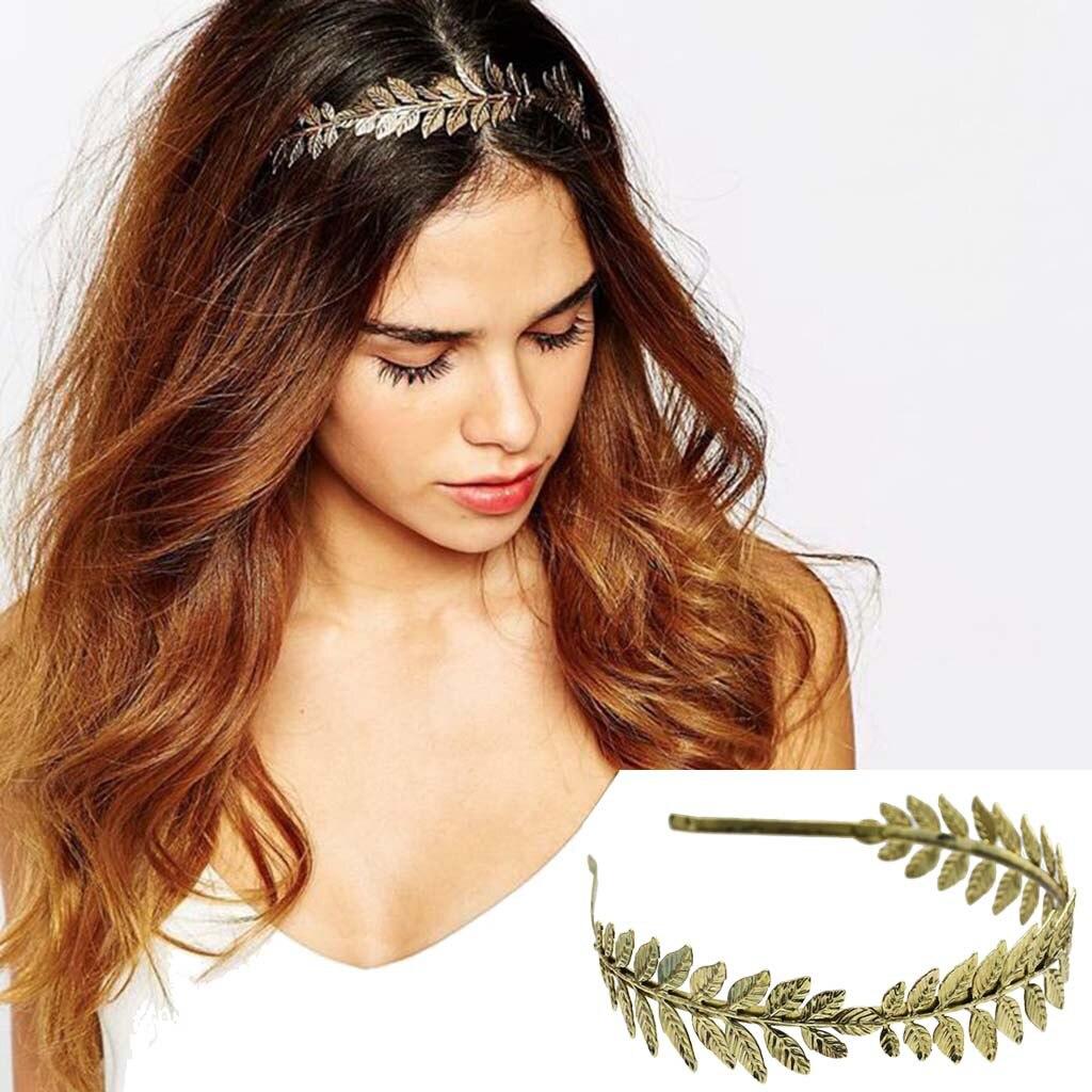 Casual Luxury Temperament Bride Leaf Hair Accessory Fashion Gold Silver Leaf Headdress Alloy Pinza de pelo #35