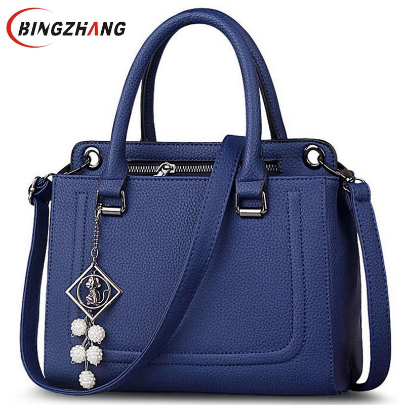 Fashion Handbag Tote Women Leather Handbags Good Quality Women Bag 2017 Medium Women Shoulder Bags Casual Tote Bags L4-2435