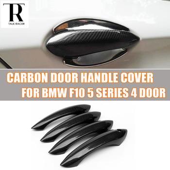 F10 Carbon Fiber Exterior Decorated Door Handle Sticker Cover Trim for BMW F10 520i 528i 530i 535i 520d 525d 528d 530d 535d M5