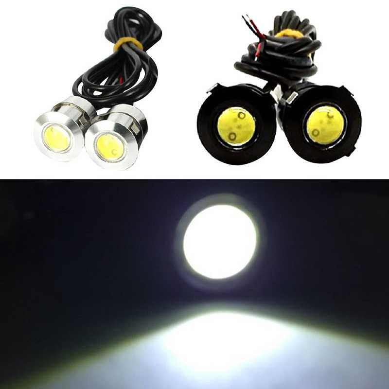 1Pc 21mm Car Styling LED DRL Eagle Eyes Daytime Runing lights 12V 9W Warning Fog Lamp Reversing Signal lights