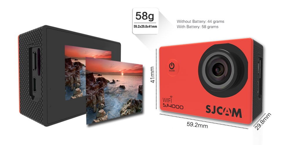 original sjcam sj4000 wifi action camera 7